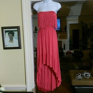Anthropologie, ( Christina love) red fringe dress